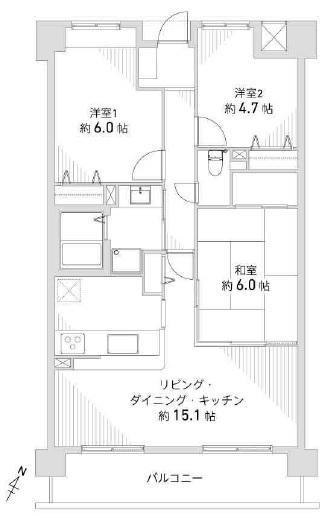水廻り交換済み☆(間取)