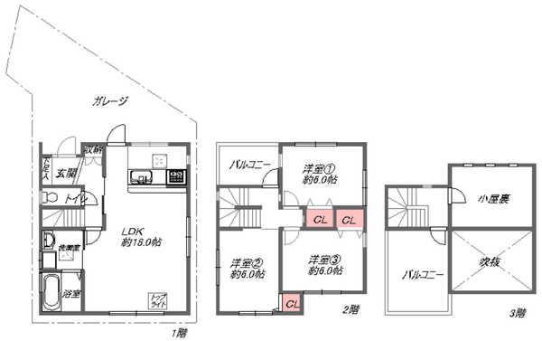2階建3LDK(間取)